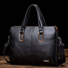 Wholesale andbags name New Fashion Men s Briefcase leather Business Shoulder Bags Quality Stylish Handbags for IPAD Brand laptop Tote Bag