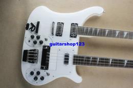 Guitare double goulots à vendre-Nouvelle guitare basse basse 4 cordes Double cou et guitare 12 cordes de guitare électrique blanche OEM disponible