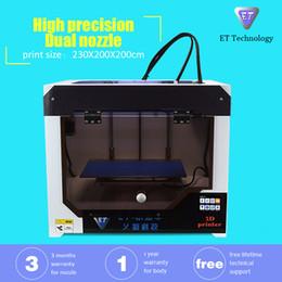 Wholesale Manufacturer Directly Sale Dual Extruders D Printers Desktop FDM D Printer Machines Double Nozzles Double Color