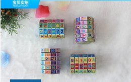 Hot Selling Funny Toy Mathematics Numbers Cylinder Magic Cube Toy Puzzle Game for Kids Math Early Education