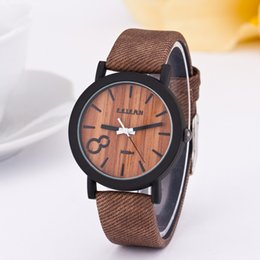 Wholesale FEIFAN M020 Simulation Wooden Men Watches Wood Color Leather Strap Watch Antique Wrist watches Clock Men relojes hombre