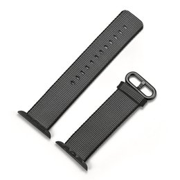 Wholesale 1 Integrated Woven Nylon Band For Apple Watch Band With Classic Buckle Official Wrist Strap Bracelet Original With Adapter Replacement