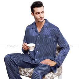 Wholesale-Mens Silk Satin Pajamas Set Pajama Pyjamas PJS Sleepwear Set Loungewear U.S,S,M,L,XL,XXL,3XL Plus_3 Colors
