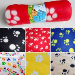 Wholesale 1Pc Pet Small Medium Large Paw Print Blanket J00007 SMAD
