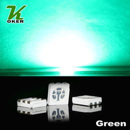 1500PCS 15-18LM Green PLCC-6 5050 SMD 3-CHIPS LED Lamp Diodes Ultra Bright SMD 5050 SMD LED Free shipping