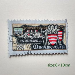 Hungary Magyar Posta postage stamp Military Collection Sew On Patch Shirt Trousers Vest Coat Skirt Bag Kids Gift Baby Decoration