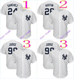 Wholesale new york yankees gary sanchez tyler austin aaron judge MLB Baseball Jersey Cheap Rugby Jerseys Authentic