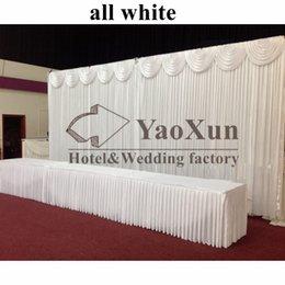 Wholesale Curtains Best Wedding Decoration - Free Shipping Wedding Backdrop 3M*6M Wedding Curtains Decoration Best Quality