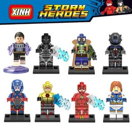Wholesale DC Super Heroes Cosmic Boy Lightning Lad Arkham Knight Atom Bane Flash Minifigure Building Block Toy Bricks Blocks X0119