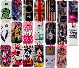Wholesale Printing Quality Soft TPU owl balloon Elephant feather UK USA flag Phone Case For Samsung Galaxy S7 G9300 S7 edge