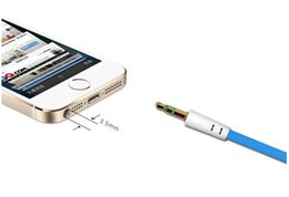 Wholesale 3 mm Audio Cable Stereo AUX Cable ft m AUX Car Audio Cable For iPads Headphones iPods iPhones