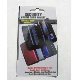 Crédit rapide à vendre-Aluminium alliage de sécurité carte de crédit portefeuille bussiness ID Wallet étanche RFID Card Holder Boîte Case Boîte Worldwide Shipping rapide 9 couleurs