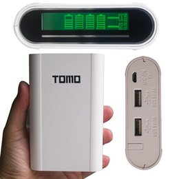 Wholesale Tomo Power Bank Battery Mobile Charger Device LCD Powerbanks18650 Portable Charger Bank with Protective Circuit USB Cable