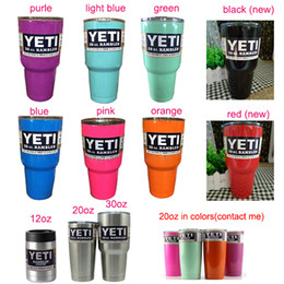 Wholesale hot yeti Stainless Steel oz Cups colors Stainless Steel Tumbler Mugs oz oz oz For Travel Vehicle Beer Mug in stock