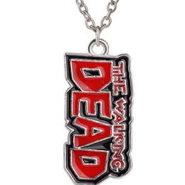 Wholesale 2016 Winters Alloy quot The Walking Dead quot Theme Necklace Mens Alphabetic Letter Pendant Necklace Jewelry Necklace ZJ
