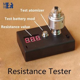 Wholesale Vape e cigarette Resistance Tester ohm meter threaded for any atomizer vaporizer and battery Cigarette Accessories X8067