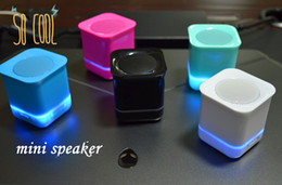LED Bluetooth Speakers Mini Wireless Portable Speaker Player Stereo Subwoofers Home Audio Support FM Mp3 Player