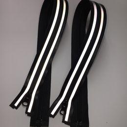 Supply of high-quality waterproof nylon waterproof reflective zipper 5th