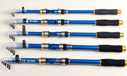 Wholesale Carbon Sea Rod - blue 2.1M 2.4M 2.7M 3.0M 3.6M Telescopic Fishing Rod Spinning Fish Hand Tackle Sea Carbon Fiber Pole Portable