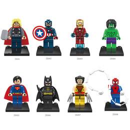Wholesale 960pcs Super Heroes Avengers Iron Man Hulk Batman Wolverine Thor Spider Man Building Blocks Minifigures