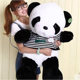 2017 oreillers panda en peluche Dorimytrader 90cm Large Cartoon Panda Poupée Stuffed Big Funny Pandas Peluche Pillow Cadeau De Noël DY61380 oreillers panda en peluche sortie
