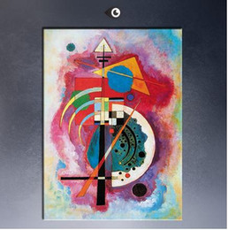 Wholesale Hommage A Grohmann By WASSILY KANDINSKY High Quality Genuine Handmade Home Wall Decor Abstract Art oil Painting On Canvas customized size