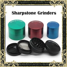 Wholesale Authentic SharpStone Grinders Zinc Alloy Tobacco herbal Grinder Pieces Cigar herb Spice Crusher Machine Magnet Strainer mm mm mm