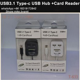 Wholesale USB Type c usb hub card reader supported SD TF MS micro M2 MicroSD for letv