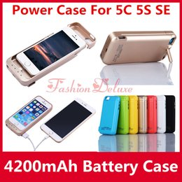 Wholesale Power Cases For iPhone C S SE External Battery Case mAh Cellphone Backup Charger with USB For iPhone5 s In Stock UPS Free