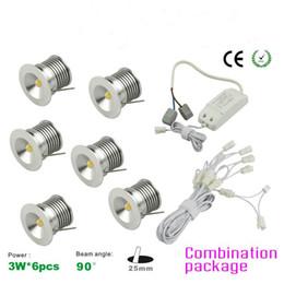 Wholesale LED MINI Downlight Bridgelux Chip Waterproof IP65 IIsolation Driver Dimmable LED Cabinet Light W Mini Lamp set New Design