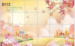 Wholesale 2015 Hot selling Waterproof bathroomr tile aluminum foil flowe wall stickers home decor wall