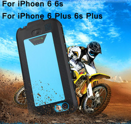 Wholesale 2750mAh mah Power Bank External Backup Battery Portable Charger Waterproof Case For iPhone Plus s Plus Life Water Shock Proof Cove