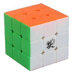 Dayan juguete en Línea-Al por mayor-Dayan GuHong V2 Velocidad 3x3 Stickerless del rompecabezas del cubo del juguete 6 del color sólido