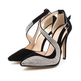 New Women High-heeled Shoes European and American Style Nightclub Fashion Super High Heels Shoes Rhinestone Ladies High-heeled Shoes