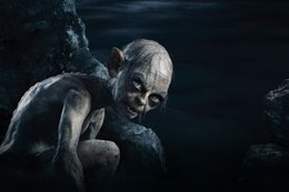 Wholesale The Hobbit Movie Gollum Andy Serkis Poster Silk Fabric Poster For Home Decoration Print x36 inch Art Silk Poster