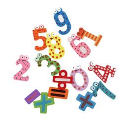 Wholesale Best seller Fridge Magnets Early Learning Educational Toys Wooden Math Jan8