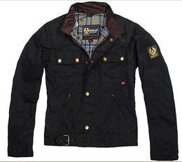 Descuento chaquetas de los hombres de cera 2015 primavera verano steve mcqueen Chaqueta hombre chaqueta motocicleta hombres encerado chaqueta de alta calidad