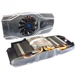 New Original Sapphire HD6870 67905830 graphics radiator copper bottom 3 heat pipe 4 Pin card fan
