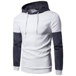 Free Shipping 2017 New Winter Men's Fashion Slim Hit Color Men's Hooded Sweater