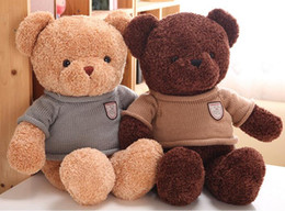 Cute plush toy teddy bear hug doll sweater 50cm birthday Valentine's Day gift to send girls free shipping