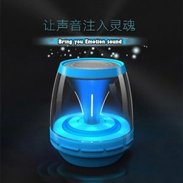 Wholesale Top Selling Mini Cute Wireless Portable Bluetooth Speaker with LED Light for Home Theater Computer and Iphone