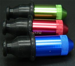 Wholesale 10pcs Metal Pipes Sneak A Toke Click a Tock W Screen colors Smoking Metal Pipe Sneak Click One hitter Bat Click N vape