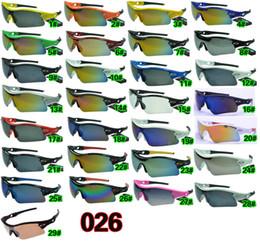 Gafas de sol de color rosa en Línea-Los hombres se divierten las gafas de sol al aire libre de ciclo de la bicicleta de las gafas de sol La manera de ciclo de las gafas de sol que deslumbra los espejos A +++ 29colors del color libera el envío