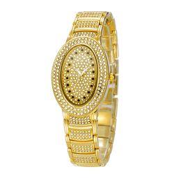 Wholesale Relojes Chinas Calientes El Diamante de lujo de la Moda de Relojes De Acero Inoxidable Resistente al Agua Reloj de Cuarzo de la Batería