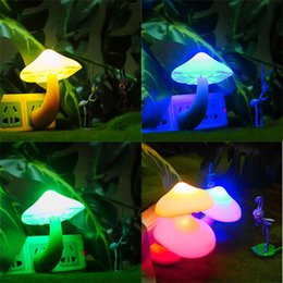 Wholesale LED Light Mushroom Night Light Factory Direct Creative New Strange Gift Avatar Baby Feeding Wall Lamp
