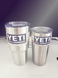 Wholesale 10pcs double wall stainless steel oz vacuum insulated yeti tumbler yeti cup with sliding lid best selling beer mugs