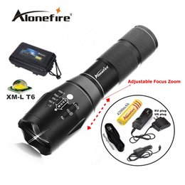 G700 E17 CREE XM-L T6 LED 2000Lm led flashlight Torch lamp + 1x 18650 Battery charger   car charger   flashlight holster