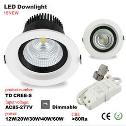 2017 качество панели CREE COB светодиодные светильники 10W 20W 30W 40W 60W свет панели СИД высокого качества Dimmable Светодиодный прожектор потолочный светильник качество панели акция
