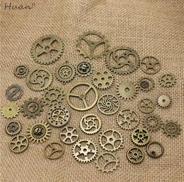 Wholesale Mix Vintage steampunk Charms Gear Pendant Antique bronze Fit Bracelets Necklace DIY Metal Jewelry Making