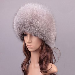 Wholesale Winter unisex fox fur hat Sheepskin hat fox raccoon Fur Hat muticolors ladies winter headgear Russian outdoor beanies cap